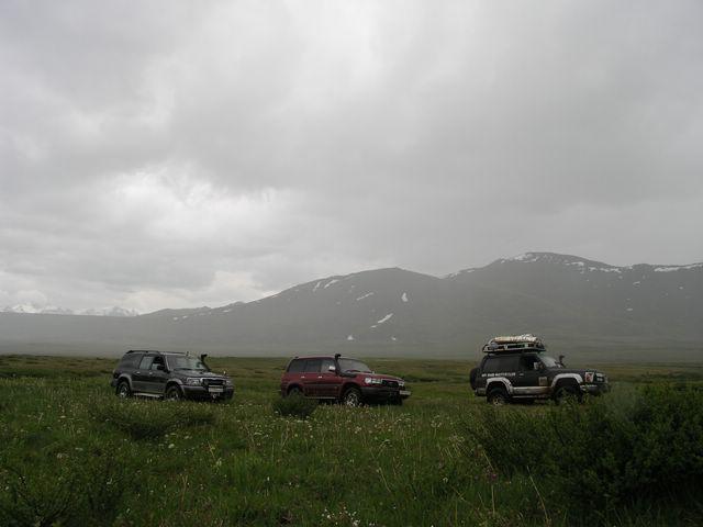 Болто - высота 2500м над уровнем моря. Всю прелесть не видно из-за высокой травы. - Укок 2007 079.jpg